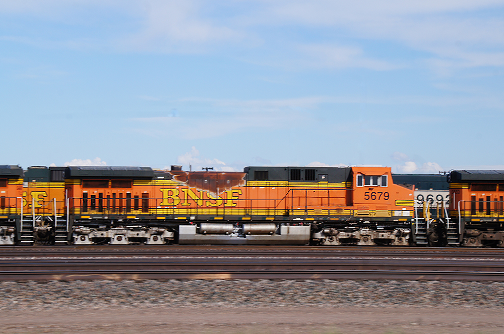 BNSF trains blocking crossings due to flooding issues