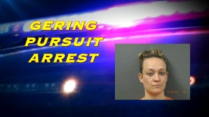 Short Gering pursuit Monday leads to arrest