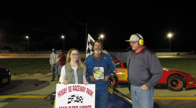 Kart Main Event winner John Fowlkes(Photo courtesy of Hi Way 92 Raceway).