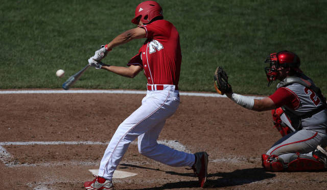 Luis Alverado, had one of NU's three hits on Thursday. Photo Courtesy NU Sports Media