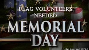Volunteers sought to help with Memorial Day Flags