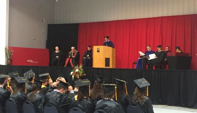 RRN/NCTA class of 2016 listen to Dean Ron Rosati begin the commencement.
