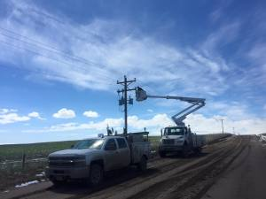 Wheat Belt  goal is to restore power to all homes by the end of the day