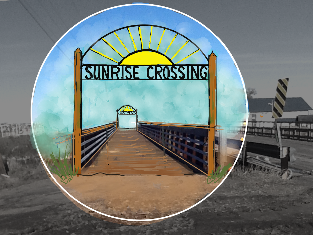 Johnson Lake Sunrise Crossing celebration