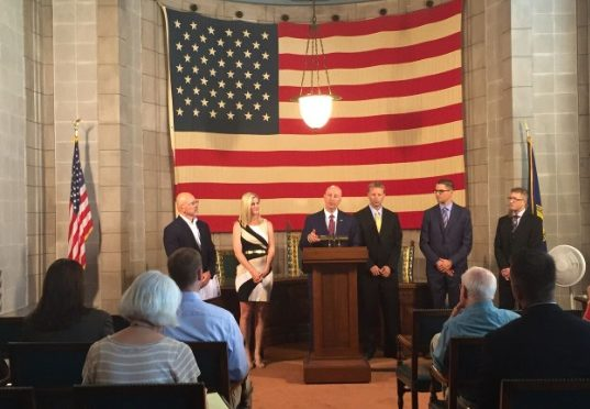 Courtesy/Gov. Pete Ricketts announces Developing Youth Talent Initiative grant recipients at Statehouse news conference 06-27-16