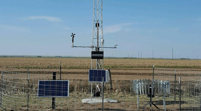 Kansas Mesonet, a part of the Weather Data Library at Kansas State University, is expanding by adding weather stations in several communities, including this one in Lakin. Real-time weather data is available online at mesonet.k-state.edu/.