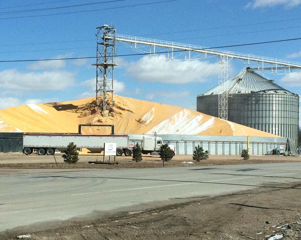 Grains Piled on Runways, Parking Lots, Fields Amid Global Glut