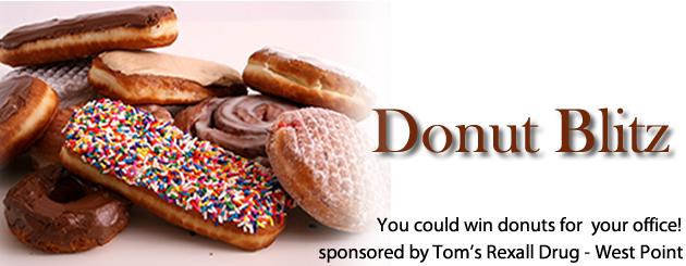 Tom's Rexall Drug Donut Blitz 630x245 slider 2016