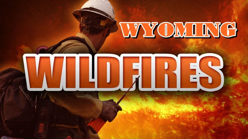 Rain falls on Wyoming wildfire but heavy fuels still burn