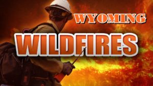 Wildfire threatens homes in northeast Wyoming