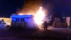 Fire destroys Alliance mobile home, displaces family of five
