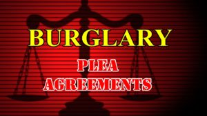 Plea agreements reached in 2 burglary cases