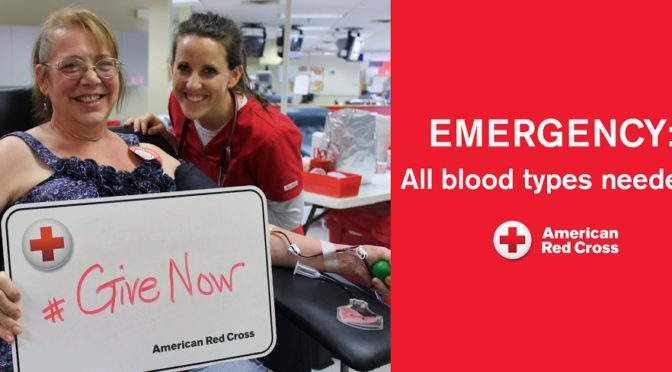 Courtesy/American Red Cross issues emergency call for blood 07-06-16