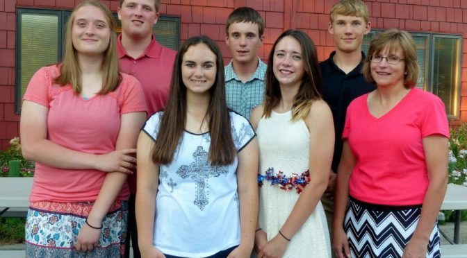 Courtesy/ Teri Licking.  CPPD campers - Back row - Josh Cyboron, Jared Schultis, Cooper Taylor, Front-Alyssa Cyboron, Grace Strohl, Kesha DeGroff and CPPD adult counselor, Cindy Lindner