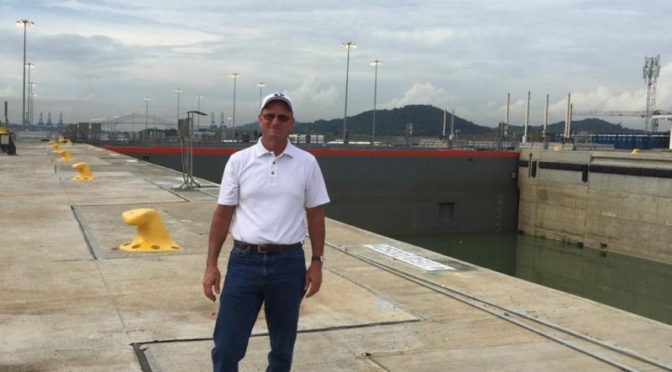 USGC Chairman and Nebraska farmer Alan Tiemann, who attended the ceremony on the reopening of the Panama Canal last weekend. (Image courtesy of USGC)