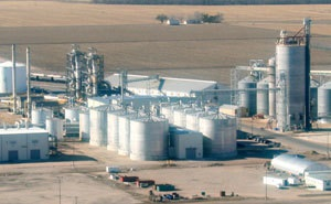 The Pioneer Trail Energy plant in Wood River, Neb. (Image courtesy of Ethanol Producer Magazine)