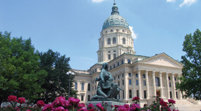 KS. CAPITOL AND FLOWERS
