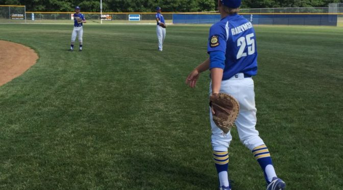 Gering PVC players warm up before the Class B State Legion Tournament in Plattsmouth Saturday (courtesy Hunter Arterburn)