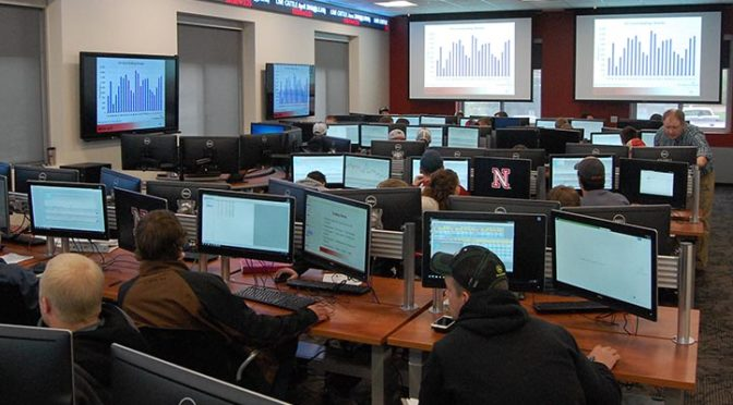 The Commodity Trading Room during AECN 435 Advanced Agricultural Marketing Management