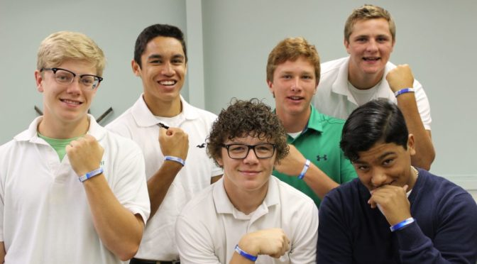Courtesy/ North Platte St. Patrick students are wearing GBJF 2017 #LIVING WATER wristbands as they prepare to host the three day retreat in March 2017.  Young people are encouraged to attend and even apply to be part of the Banana Bunch that will help lead the weekend.