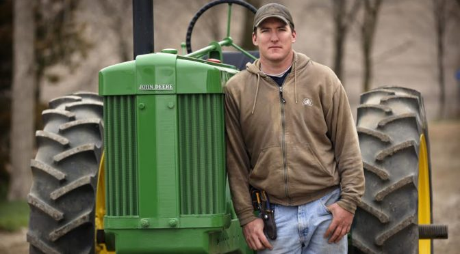 "David Loberg of Carroll, Neb. is featured in ""Farmland."" Photography by Don Holtz"