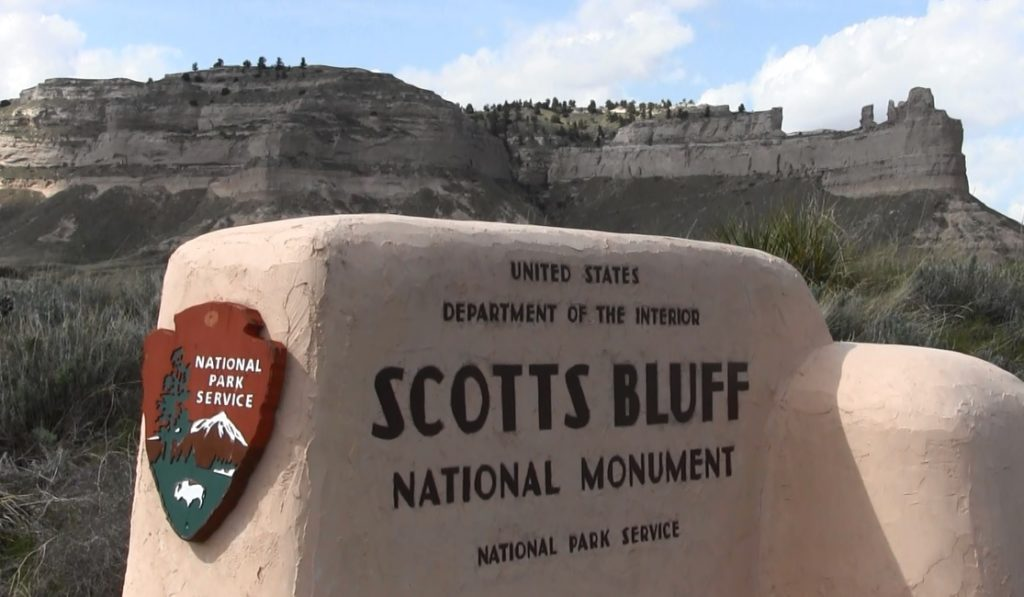Birthday cake noon today at Scotts Bluff National Monument