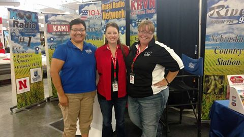 Chabella Guzman, Shalee Peters and Susan Littlefield from the Rural Radio Network booth.