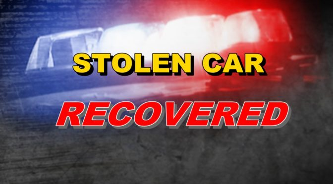 Stolen Car Recovered