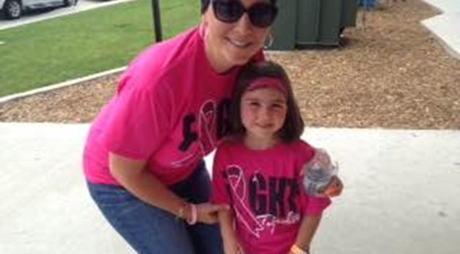 Gering teacher Leigh Anne Toffelmeier and daughter