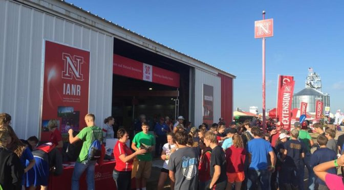 Attendees at Husker Harvest Days, Sept. 13-15 near Grand Island, can find the University of Nebraska-Lincoln's Husker Red steel building at Lot 321 on the south side of the exhibit grounds.