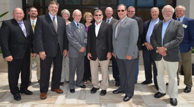 WISHH Program Committee Members, front row from left: George Goblish (MN); Treasurer Stan Born (IL); Secretary E.L. Reed (MO); Vice Chair Levi Huffman (Ind); President Daryl Cates (IL); and Jim Wilson (MIi). Back row from left: Tim Bardole (IA); U.S. Soybean Export Council (USSEC) Ex-officio Member Marypat Corbett; Roberta Simpson-Dolbeare (IL); Kurt Maurath (Kan); Jeff Lynn (IL); USB Ex-officio Member Keith Kemp (OH); and WISHH Executive Director Jim Hershey. Not shown: Ryan Cahoon (NC); Steve Reinhard (OH); Dawn Scheier (SD); and Art Wosick (ND).