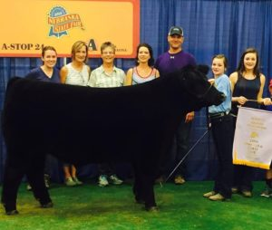 Reserve Grand Champion goes to Mattie Beattie of Sumner for her steer Rango. (Courtesy Image)