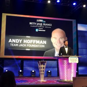 After two months of online voting, Hoffman will receive $100,000 for his charity, the Team Jack Foundation