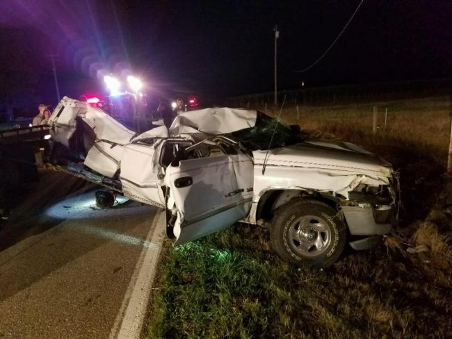 Two hospitalized following pickup rollover