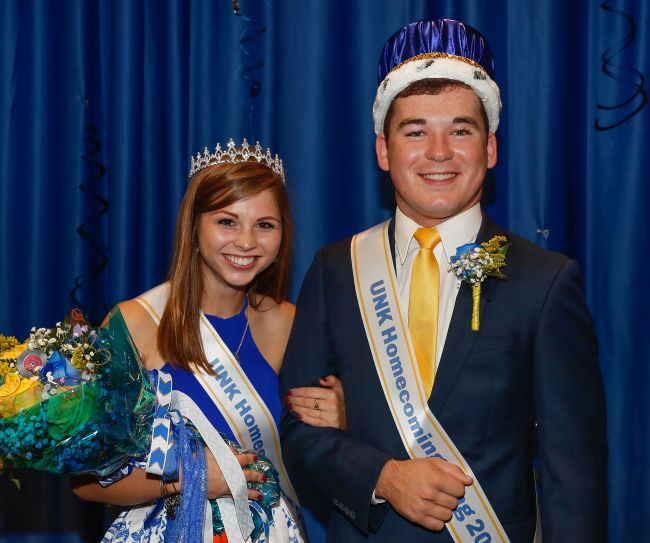 Grossnicklaus, Russell named UNK Homecoming royalty