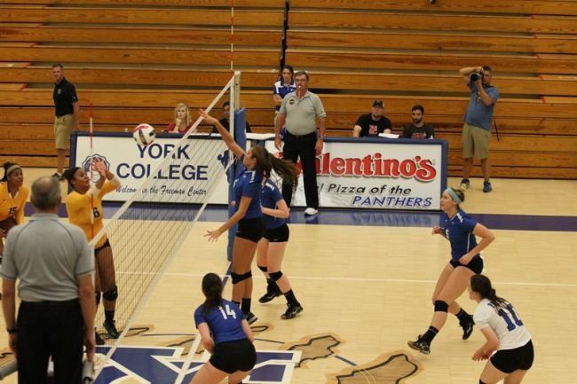 Bethany bests York in Volleyball