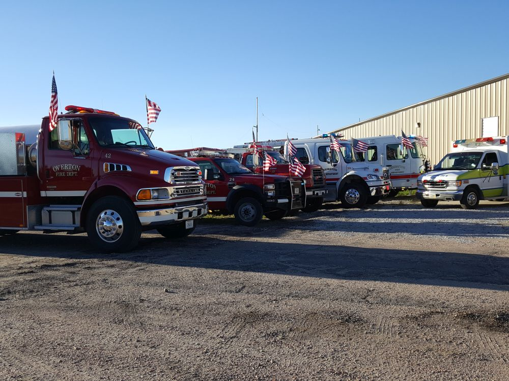 RRN/ Fire and Rescue trucks line-up outside of Heartland Museum of Military Vehicles building in Lexington during 9/11 commemoration program held Sunday September 11, 2016.