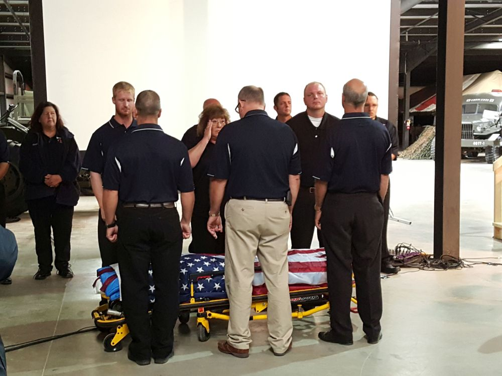 RRN/ Area fire and rescue members prepare for Firemen's Last Call portion of 9/11 commemoration program held Sunday September 11, 2016 at the Heartland Museum of Military Vehicles in Lexington.