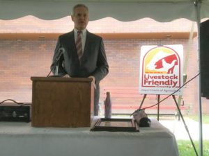 RRN/Lt. Governor Mike Foley at the York County Livestock Friendly designation