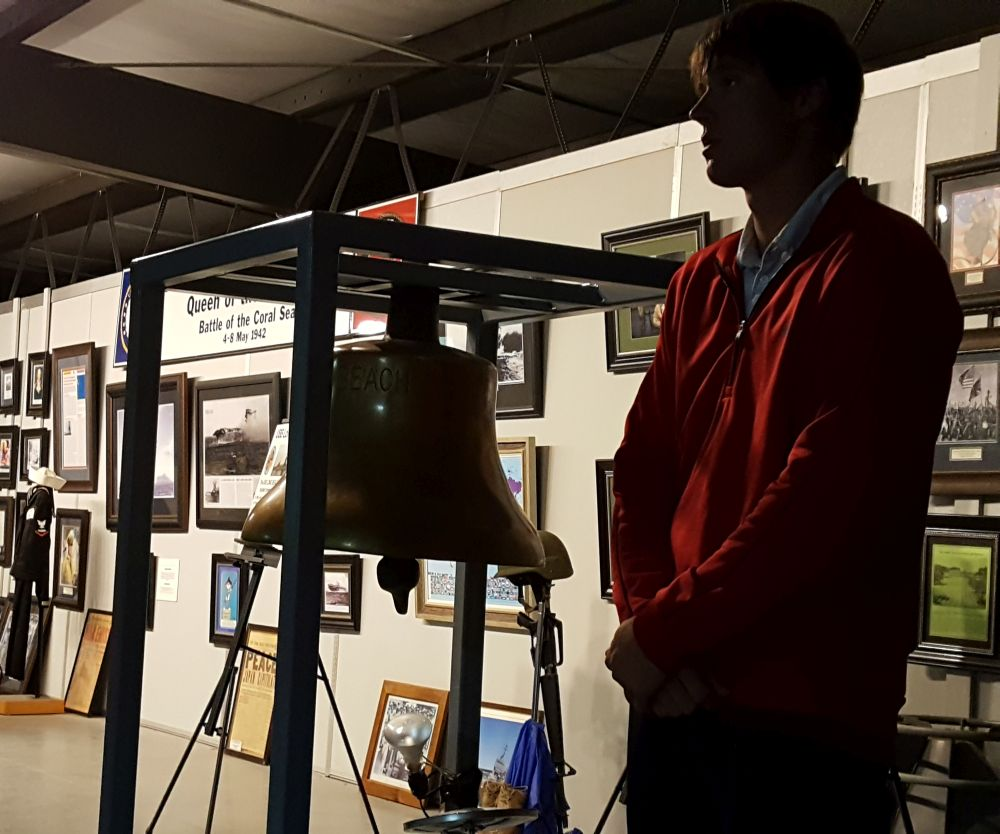 RRN/ The Heartland Museum of Military Vehicle's bell from the USS Long Beach was run four times to coincide with the impacts of the four planes used in the 9/11 attacks.
