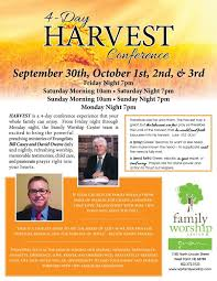 Harvest Conference This Weekend At Family Worship Center In West Point