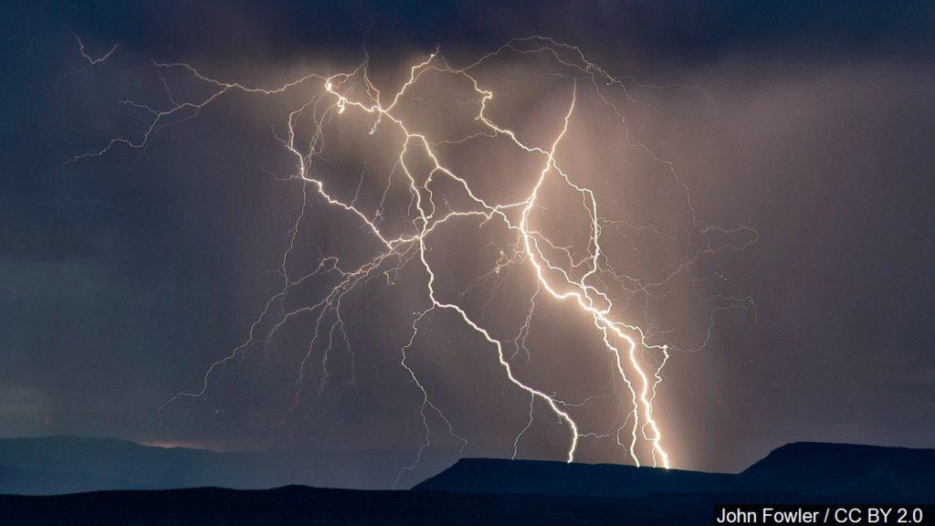 Lightning started fire near Colorado-Wyoming border