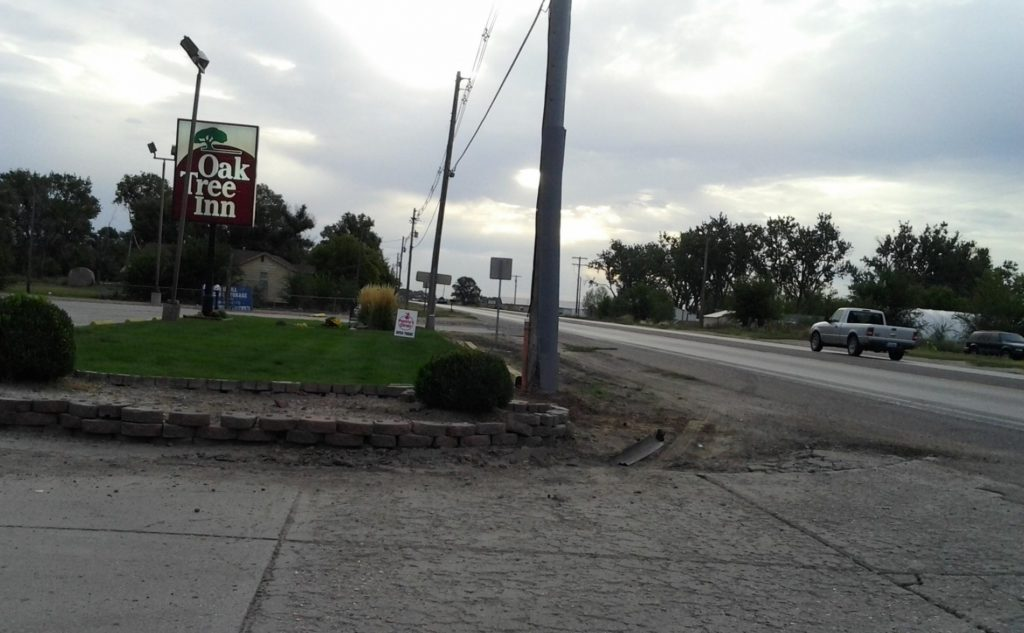 Sunday night accident causes damage near Morrill restaurant