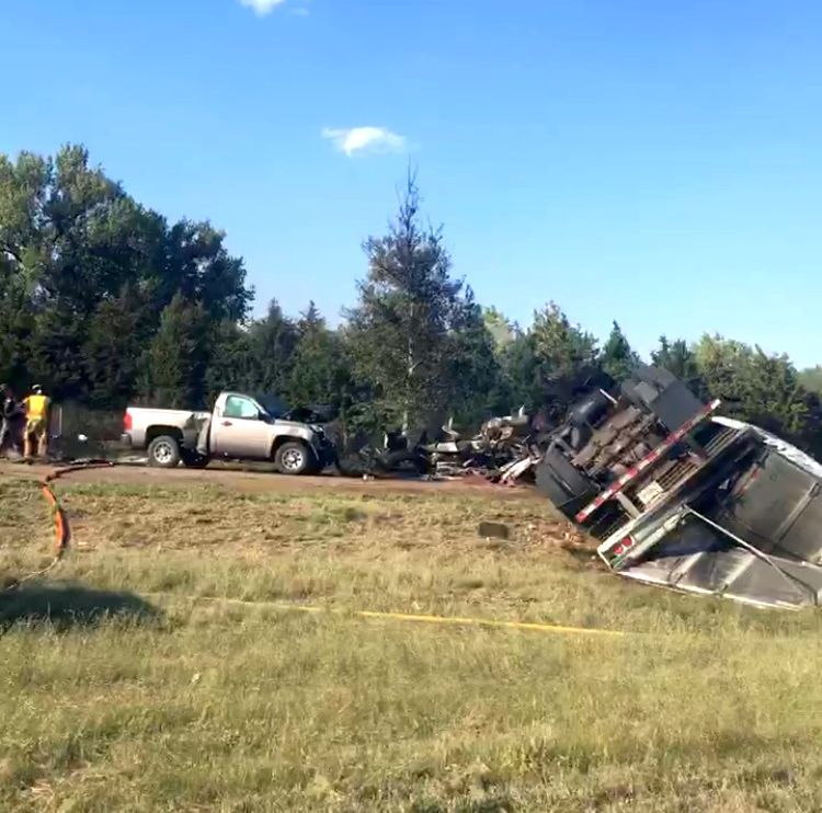 RRN/ Multiple vehicle accident occurred just east of the Gibbon interchange on Interstate 80 late Friday afternoon.