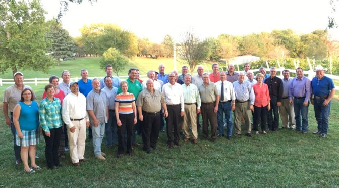 National Association of State Directors of Agriculture members attending their annual meeting in Lincoln this week pose for a picture after their Thursday tours. (RRN Photo/Susan Littlefield)