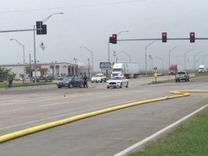 RRN/A northbound Buick was believed to be hit by a northbound semi at the Petro intersection.