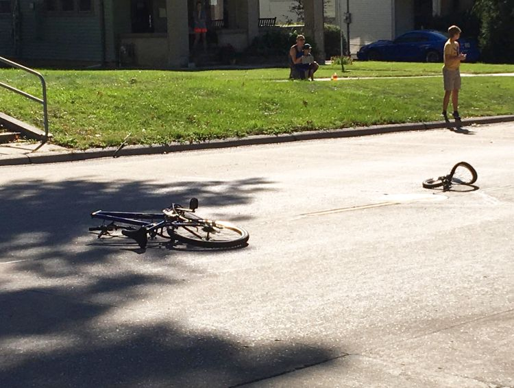 (AUDIO) Car vs. Bicycle collision sends 14-year-old boy to hospital