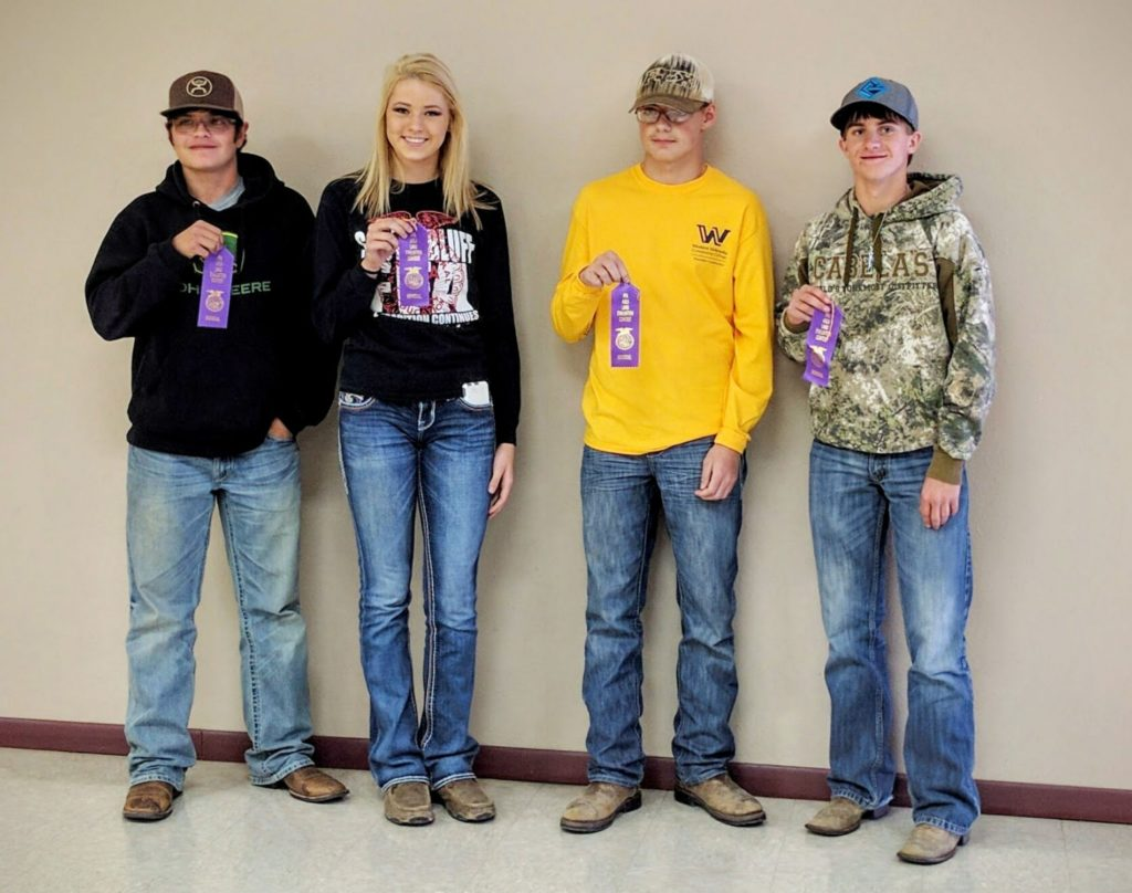 Area youth participate in land judging contest