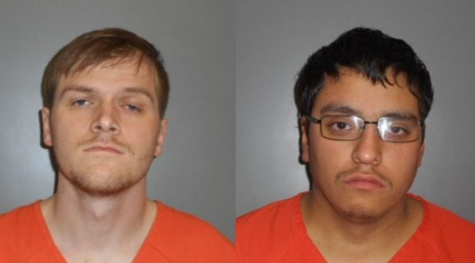 Courtesy/ Dawson County Sheriff's Office.  Chase Bryson & Isaac Tovar.