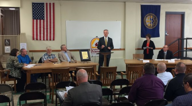 Lt. Gov. Mike Foley in Schuyler on Tuesday